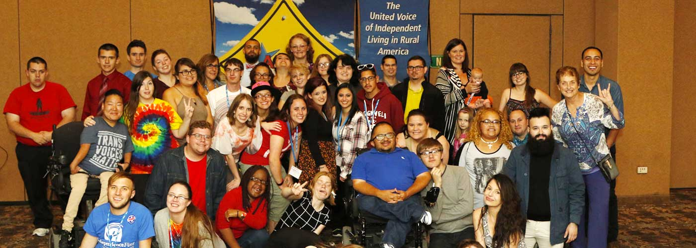 Group photo of participants in United Voice of Independent Living in Rural America Conference